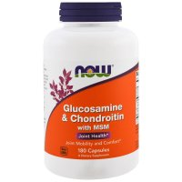 Now Foods, Glucosamine & Chondroitin with MSM - 180 Capsules