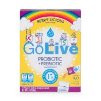 GoLive, Probiotic & Prebiotic Drink Mix For Kids, Berrylicious - 10 Packets