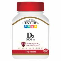 21st Century, Vitamin D3, High Potency, 1000 IU - 110 Tablets