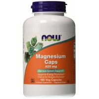 Now Foods, Magnesium Caps, 400 mg - 180 Veggie Caps