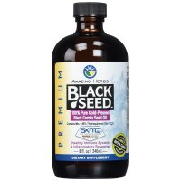 Amazing Herbs, Black Seed, 100% Pure Cold-Pressed Black Cumin Seed Oil - 8 fl oz (240 ml)