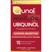 Qunol, Mega CoQ10 Ubiquinol, 100 mg - 60 Softgels