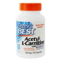 Doctor's Best, Acetyl-L-Carnitine with Biosint Carnitines, 500 mg - 120 Veggie Caps