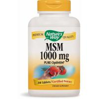 Nature's Way, MSM, Pure OptiMSM, 1000 mg - 200 Tablets