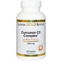 California Gold Nutrition, Curcumin C3 Complex with BioPerine, 500 mg - 120 Veggie Capsule