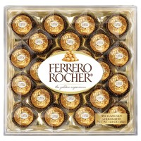 Ferrero Rocher, Chocolates 24 CT Box - 10.6 oz (300 g)