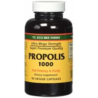 Y.S. Eco Bee Farms, Propolis 1000, 500 mg, 90 Veggie Caps