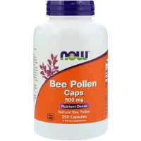 Now Foods, Bee Pollen Caps, 500 mg - 250 Capsules