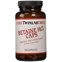 Twinlab, Betaine HCL Caps - 100 Capsules
