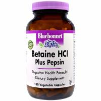 Bluebonnet Nutrition, Betaine HCl, Plus Pepsin - 180 Veggie Caps