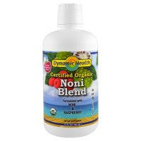 Dynamic Health  Laboratories, Organic Certified Noni Blend, Raspberry Flavor - 32 fl oz (9
