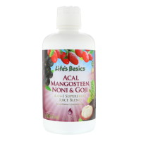 Life Time, Life's Basics, 4-In-1 Superfruit Juice Blend, Acai, Mangosteen, Noni & Goji - 3