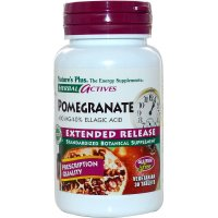 Nature's Plus, Herbal Actives, Pomegranate, Extended Release, 400 mg - 30 Tabs