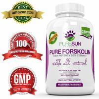 Pure Sun Naturals, Pure Forskolin Weight Loss Supplement, Fat Burner - 90 Capsules