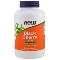 Now Foods, Black Cherry, 750 mg - 180 Veg Capsules