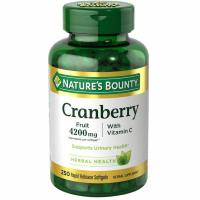 Nature's Bounty, Cranberry, With Vitamin C - 250 Rapid Release Softgels