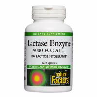 Natural Factors, Lactase Enzyme, 9000 FCC ALU - 60 Capsules