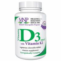 Michael's Naturopathic, Vitamin D3, with Vitamin K2, Natural Apricot Flavor, 5,000 IU - 90
