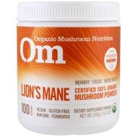 OM Organic Mushroom Nutrition, Lion's Mane, Mushroom Powder - 7.14 oz (200 g)
