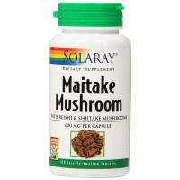 Solaray, Maitake Mushroom, 600 mg - 100 Veggie Caps