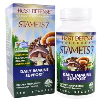 Fungi Perfecti, Host Defense, Stamets 7®, Daily Immune Support - 60 Veggie Caps