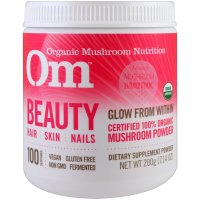 OM Organic Mushroom Nutrition, Beauty, Mushroom Powder - 7.14 oz (200 g)