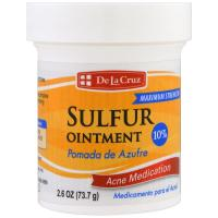 HBA Mart, De La Cruz 10% Sulphur Medication Ointment (Acne Medicated Treatment) - 2.6 oz