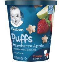 Gerber Graduates, Puffs Cup for Crawler, Strawberry Apple, 8 Count - 0.7 oz (20 g) each