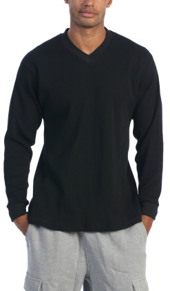 Men's Comfort Long Sleeve V-Neck Tee