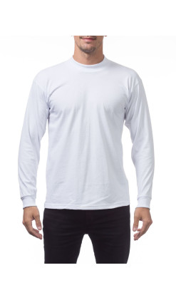 Men's Long Sleeve Tee Mock Turtle