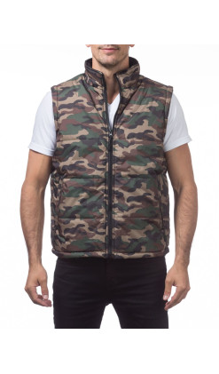Heavy Padding Vest (Green Camo)