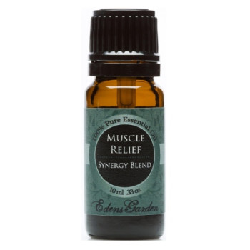 Edens Garden, Muscle Relief Synergy Blend Essential Oil - 0.33 oz (10 ml)