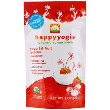 HappyFamily, HappyYogis Organic Superfoods Yogurt and Fruit Snacks - 1 oz. (28 g)  * Select flavor