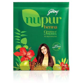 Godrej, Nupur Mehendi Powder 9 Herbs Blend - 120 Gram (Net Weight)