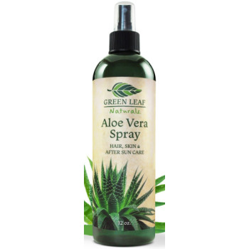 Green Leaf, Naturals Organic Aloe Vera Gel Spray - 12 Ounce