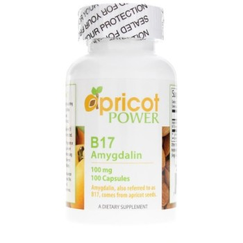 Apricot Power, Amygdalina B17, 100 mg - 100 Capsules