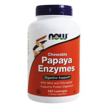 Now Foods, Chewable Papaya Enzymes - 360 Lozenges