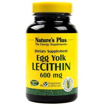 Nature's Plus, Egg Yolk Lecithin, 600 mg - 90 Vegetarian Caps
