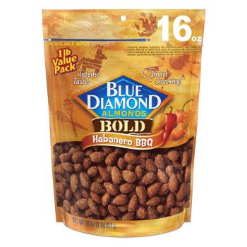 Blue Diamond Almonds, Bold Habanero BBQ - 16 oz (454 g)