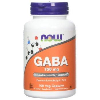 Now Foods, GABA, 750 mg - 100 Veg Capsules