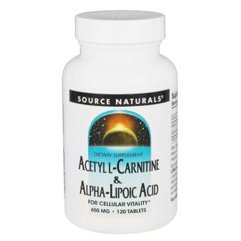 Source Naturals, Acetyl L-Carnitine & Alpha-Lipoic Acid, 650 mg - 120 Tablets
