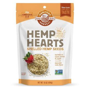Manitoba Harvest, Organic Hemp Hearts Raw Shelled Hemp Seeds - 1 Pound Pouch