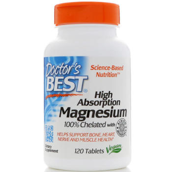 Doctor's Best, High Absorption Magnesium, 100% Chelated - 120 Tablets