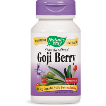 Nature's Way, Goji Berry, Standardized - 60 Veggie Caps