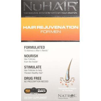 Natrol, NuHair, Hair Rejuvenation for Men - 60 Tablets