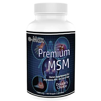 e-Max®, Premium MSM, 1000 mg - 180 Veggie Capsules