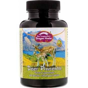 Dragon Herbs, Deer Placenta 500 mg - 60 Capsules