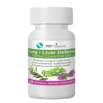 PST Naturals, Lungs & Liver Defense From Environmental Contaminants - 120 Softgels