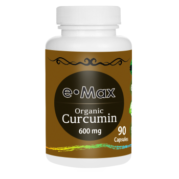 e-Max®, Organic Curcumin 95, 600 mg – 90 Capsules