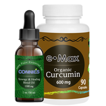 e-Max®, Immune & Anti-Virus Blend Oil + Organic Curcumin Set of 2
